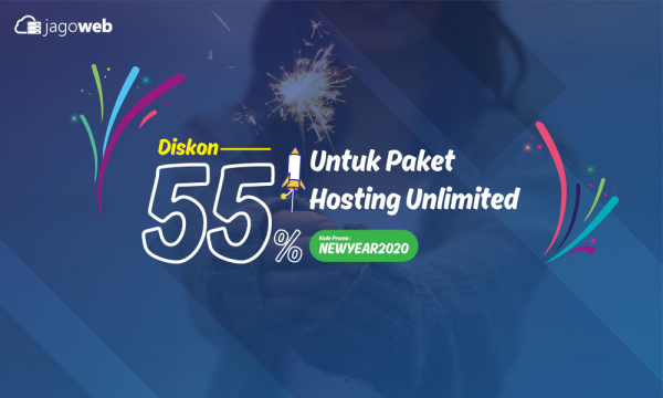 Promo Tahun Baru 2020 Hosting Unlimited Diskon 55%