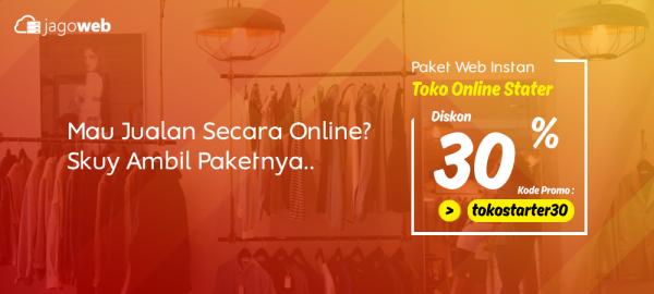 Promo Website Toko Online Instan Diskon Start 30%