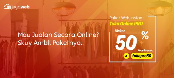 Promo Website Toko Online Instan Diskon Pro 50%