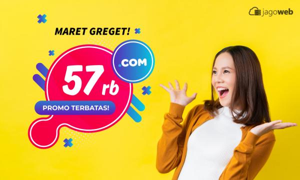 MARET GREGET! domain .com cuma 57rb, Terbatas!