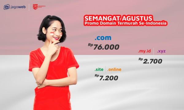 Merdeka! Jagoweb Bagi Promo Domain MURAH!