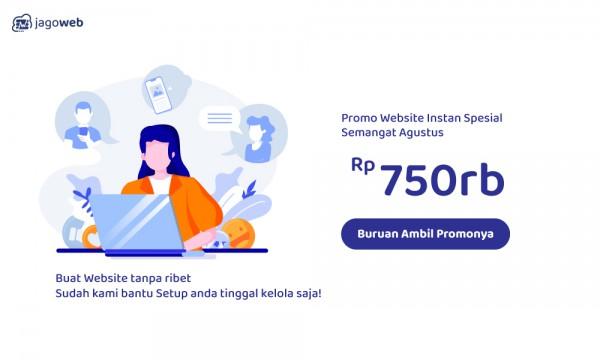 Promo Kemerdekaan! Website Instan, Hingga 50%!!!