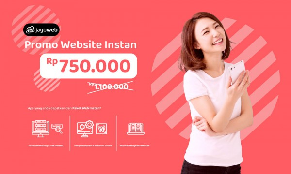 Hujan Promo Website Instan, Diskon 50%!