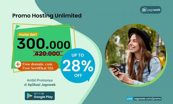 Juni Hemat Paket Hosting Unlimited Cashback 28%
