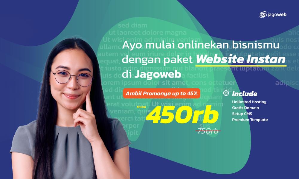 promo website instan