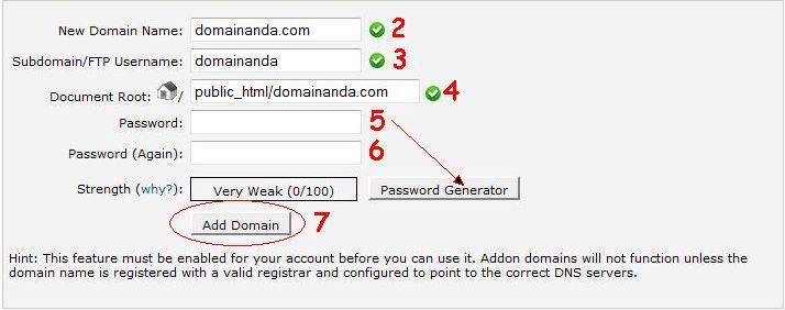 cara add on domain cpanel 2