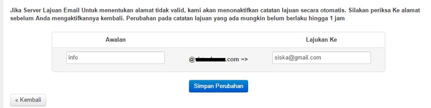 email forwarding domain blogger