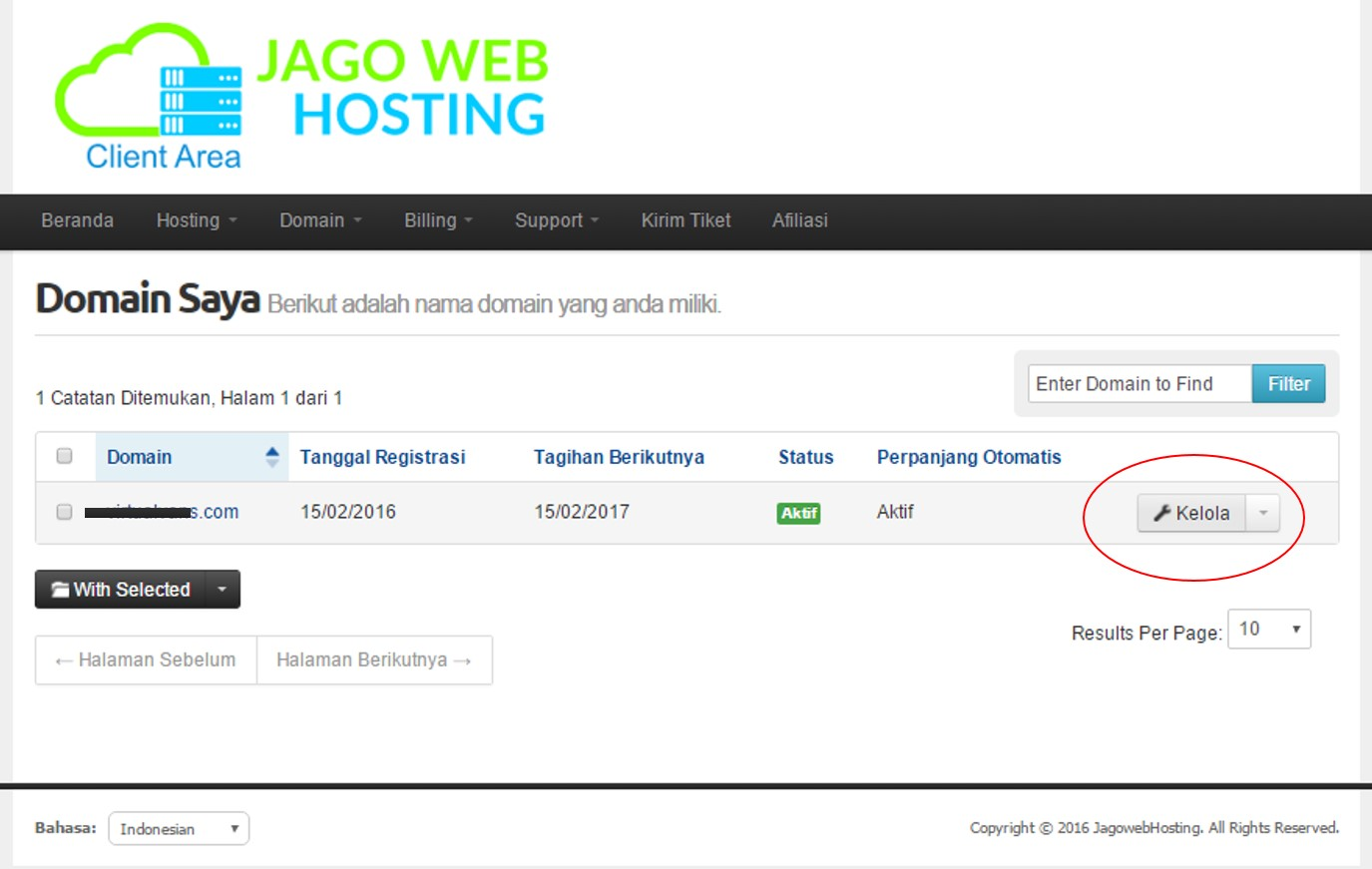 list domain jagowebhosting