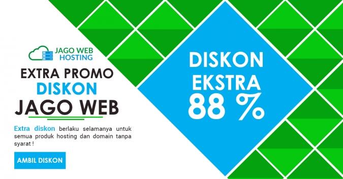 Sudah Ekstra Diskon 88% Order Hosting Ke Delapan