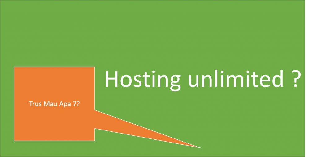 hosting website unlimited - menggunakan hosting unlimited