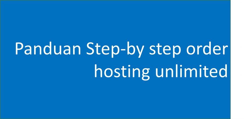 panduan order hosting unlimited jagoweb.com terlengkap